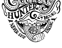 Candy hunter lettering