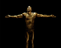 Usain Bolt gold statue