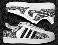 NIKE AIR FORCE 1 & ADIDAS SUPERSTAR CUSTOM DESIGN