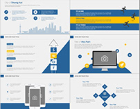 25+ Simple Blue annual report PowerPoint Template