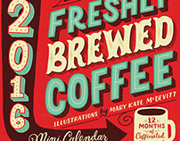 Freshly Brewed Coffee Mini Calendar