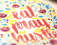 Decorative Watercolor Calligraphy Illustrations