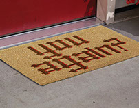unconventional doormats