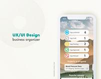 MyApp's organizer - UX/UI Design.
