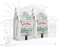 Thai Tea Branding for ManTown Koffie