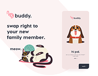 buddy. Find your new family member. App design Ui/Ux