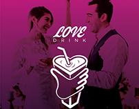 LOVE Drinks Logo Design Inspiration