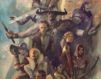 Dragon Age Team lithograph