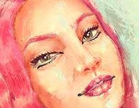 La Femme au Fraise Portrait