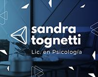 Diseño de identidad visual y web para Sandra Tognetti