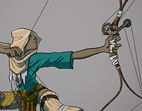 Archery girl Concept