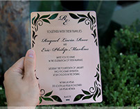 Metal Invitations with Rose Gold Finish
