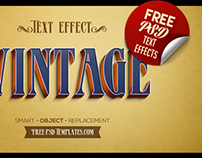 Free 5 Retro Vintage Text Effects