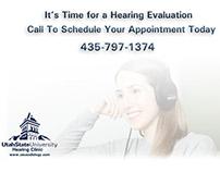 Utah State University Hearing Clinic Postcards