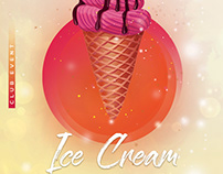 Ice Cream - Free PSD Flyer Poster Template