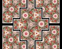 Watercolour pattern then digital manipulation