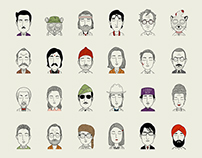 The characters of Wes Anderson