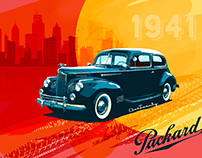 Packard One_Twenty model car Illustration