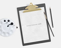 Free Clipboard Mockup Psd Download