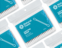 Natural Fresh. Package design for cotton buds