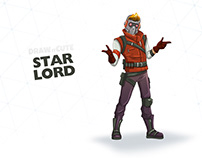 How to draw Star-Lord | Step-by-step guide & coloring p