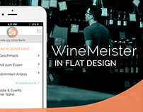 Winemeister App | Flat Design