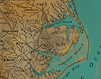 Antique North Carolina Map for Horse Jump