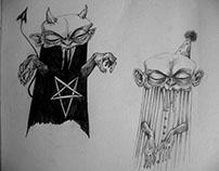 Devil boy & Clown boy