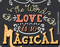 Journey of love(Illustrative hand lettering)