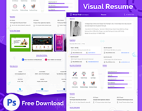 Visual Resume Design Template Free Download