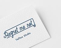 Regret Me Not - Tattoo Studio Logo