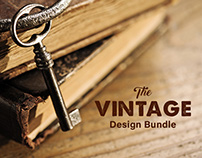 The Vintage Design Bundle - 638 Fonts & Design Elements