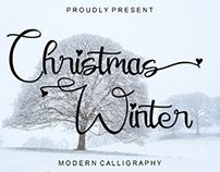 FREE | Christmas Winter Decorative Script