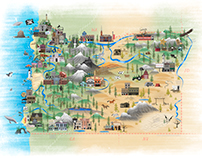 Illustrated Oregon Map