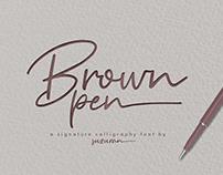Brown Pen Font Free