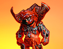 FUEGO - Custom Vinyl Toy Design