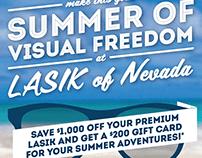 Lasik of Nevada Summer Event Flyer