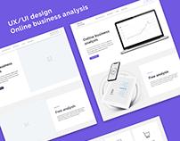 UX/UI Online business analysis