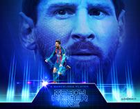 Lionel Messi artwork - Social Media Barcelona