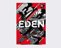Planet Eden print design