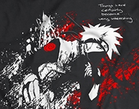 Kakashi T-shirt Design for Antimatter Clothing