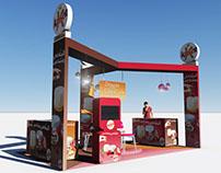 Kaiser CheeseCake Stand exhibition Design