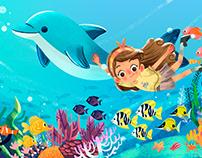 Children book : Floppy, o golfinho brincalhão