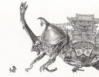 Coleoptera Domestication (Ink on Paper)