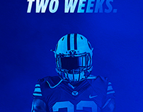 TWO WEEKS - BYU Football Social Graphic