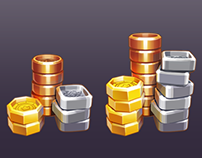 Coin Icons for Planet Gold Rush