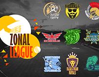 Cricket League Logo set
