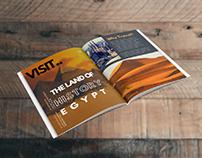 Egypt tourism magazine design with mokup