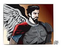 """COMMISSION - """"COMIC ANGEL WARRIOR"""""""