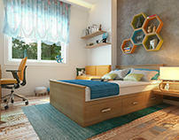 Boy Bedroom Interior Design